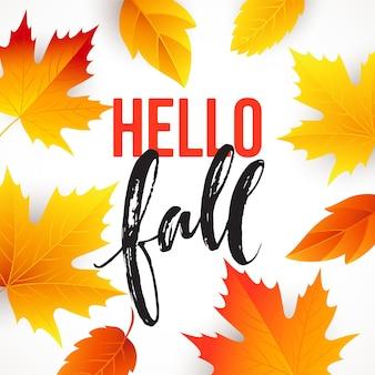 Jesienny projekt transparentu sezonowego. spadek liści. ilustracja wektorowa eps10