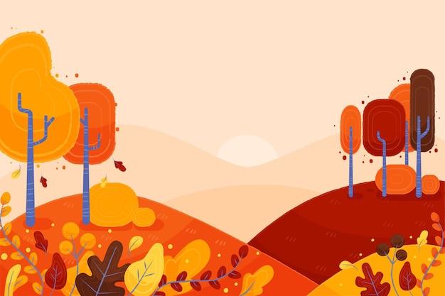 Jesienny styl tła