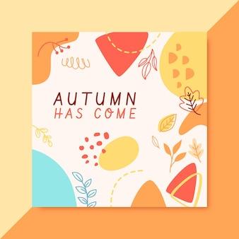 Jesienny szablon postu na instagramie