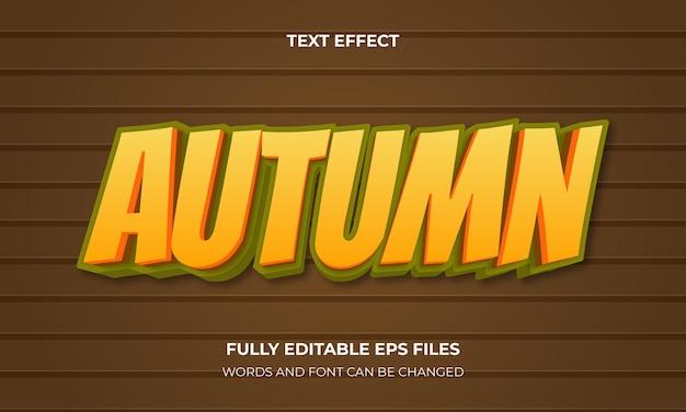 Jesienny wektor stylu tekstu 3d