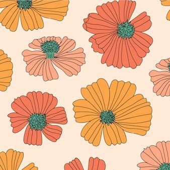 Jesienny wzór kwiatowy