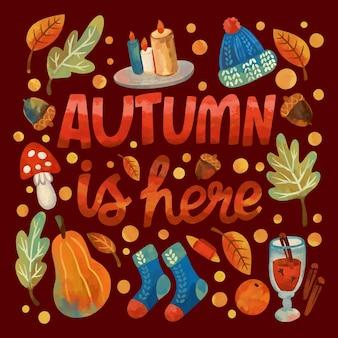 Jesienny wzór tła