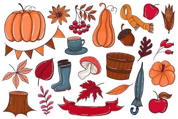Jesienny zestaw elementów