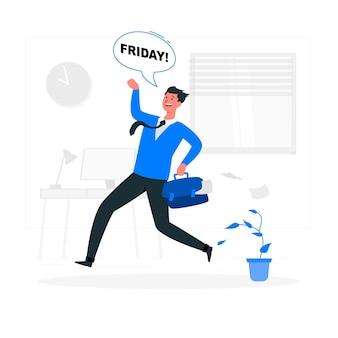 Jest to ilustracja koncepcja piątek