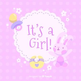 Jest To Szablon Baby Shower Dla Dziewczynki Darmowych Wektorów