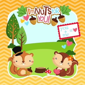 Jestem nuts for you valentine frame
