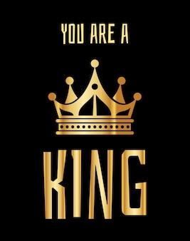 Jesteś królem z życzeniami w złotej czerni