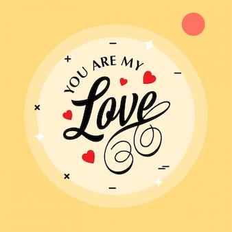 Jesteś moją miłością na żółtym tle