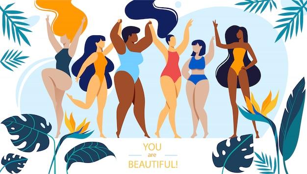Jesteś piękne tło z kobietami