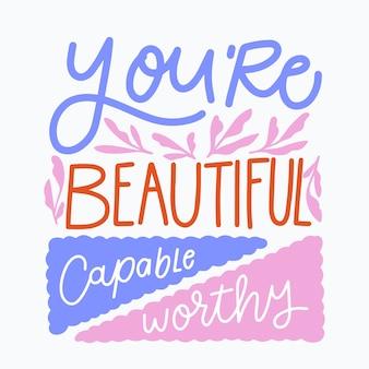 Jesteś pięknym napisem