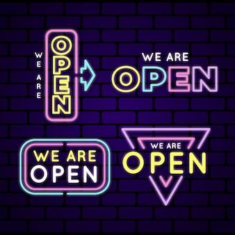 Jesteśmy kolekcją neonowych znaków otwartych