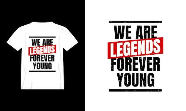 Jesteśmy legendami cytuje projekt koszulki