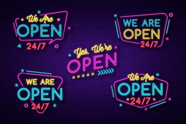 Jesteśmy otwarci - kolekcja neonów