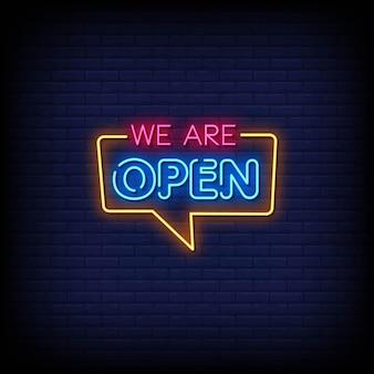 Jesteśmy otwartym tekstem w stylu neonów