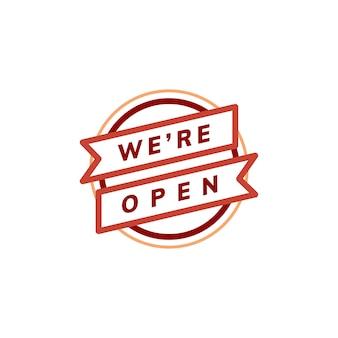 Jesteśmy znakiem otwarty transparent znak