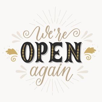 Jesteśmy znów otwarci