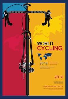 Jeździć na rowerze plakatową projekta szablonu wektoru ilustrację