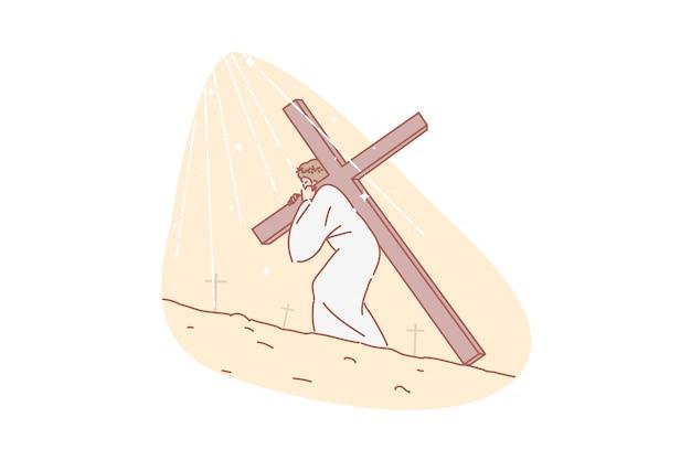 Jezus chrystus, biblia, religia, chrześcijaństwo, ilustracja