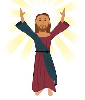 Jezus chrystus modli się symbol religijny