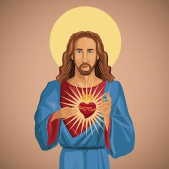 Jezus chrystus święte serce katolickie