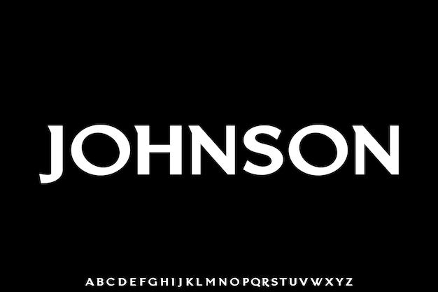 Jhonson. elegancka luksusowa czcionka vintage