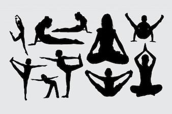 Joga i medytacja sylwetka sport