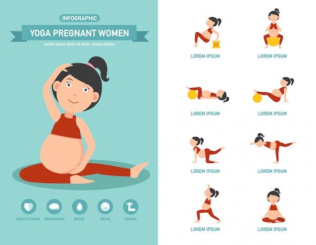 Joga kobiet w ciąży opieki zdrowotnej. ilustracja.