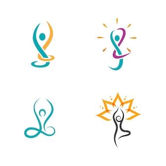 Joga wektor ikona ilustracja szablon