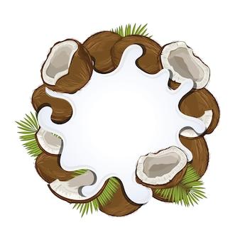 Jogurt powitalny na białym tle z kokosem