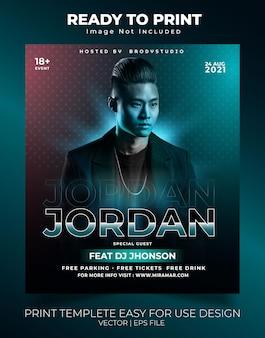 Jordan specjalne szablony do drukowania muzyki na imprezę gościnną