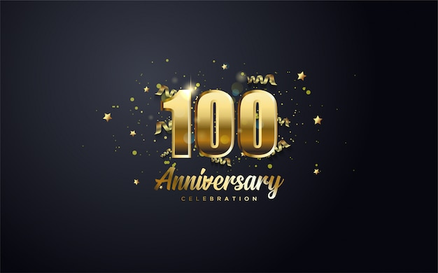 Jubileusz 100-lecia złota i słowami jubileusz rocznicy.