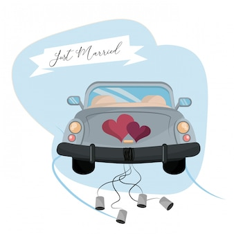 Just married cartoon