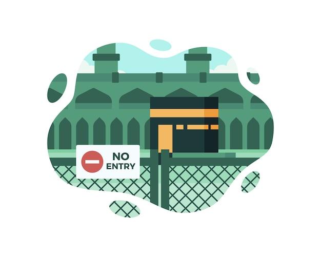 Kaaba została tymczasowo zamknięta z powodu pandemii koronawirusa