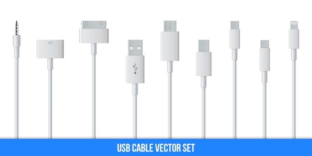 Kabel usb do ładowania wtyczek telefonów komórkowych, smartfonów.