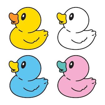 Kaczka gumowa postać z kreskówki doodle