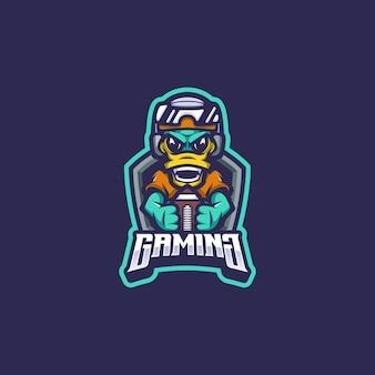 Kaczka logo maskotka