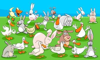 Kaczki i króliki - grupa znaków zwierząt gospodarskich