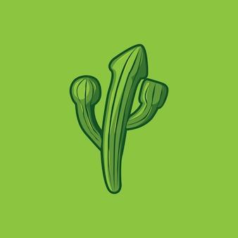 Kaktus colorfull logo wektor