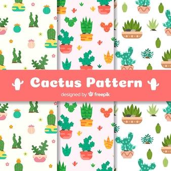 Kaktus w wzory doniczek