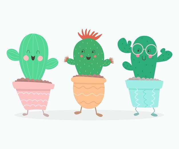 Kaktusy kreskówka.