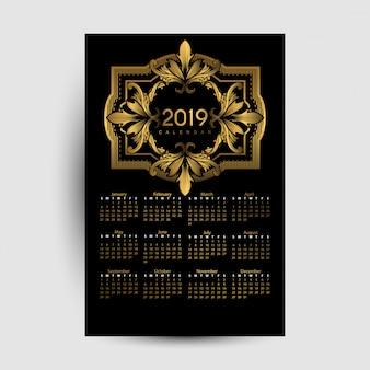 Kalendarz 2019 luksusu