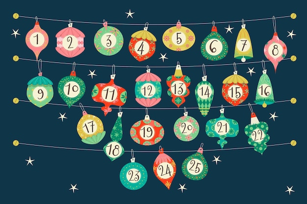 Kalendarz adwentowy na boże narodzenie