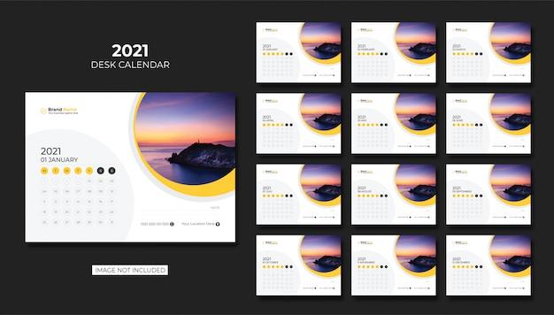 Kalendarz biurkowy, kalendarz stołowy 2021