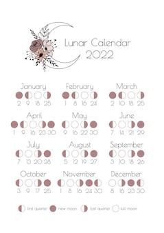 Kalendarz księżycowy 2022