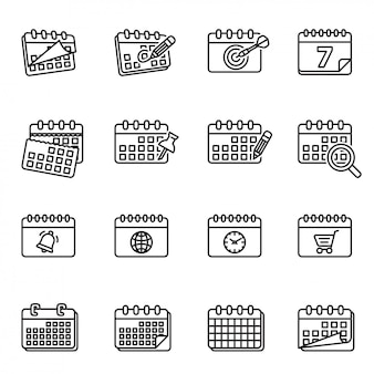 Kalendarz, menedżer zadań kalendarza, kalendarze, kalendarz dzienny, kalendarz ścienny, zestaw ikon kalendarza tygodniowego.
