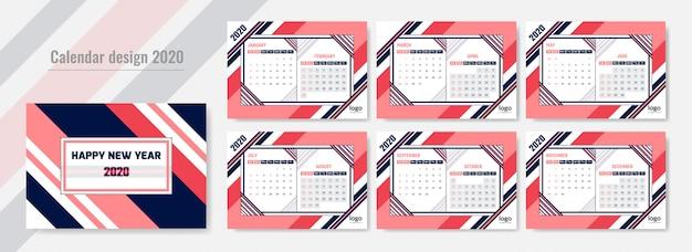 Kalendarz na biurko 2020