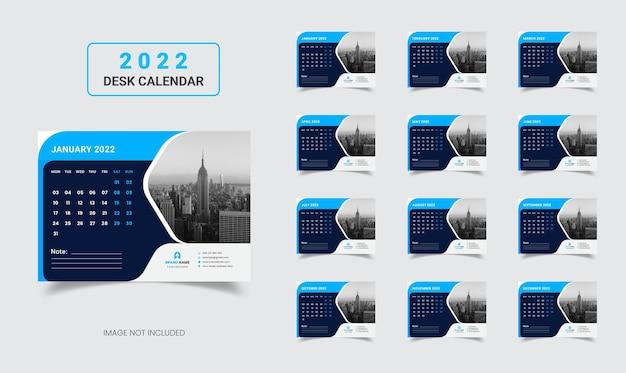 Kalendarz na biurko 2022 nowy rok korporacyjny plan roczny kalendarz na biurko 2022