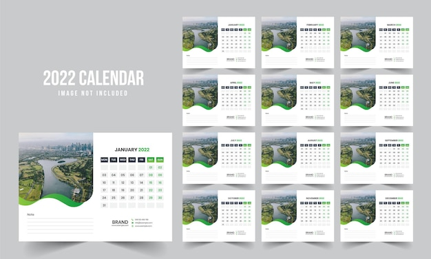 Kalendarz na biurko 2022