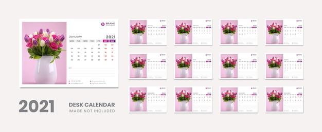Kalendarz na biurko nowy rok