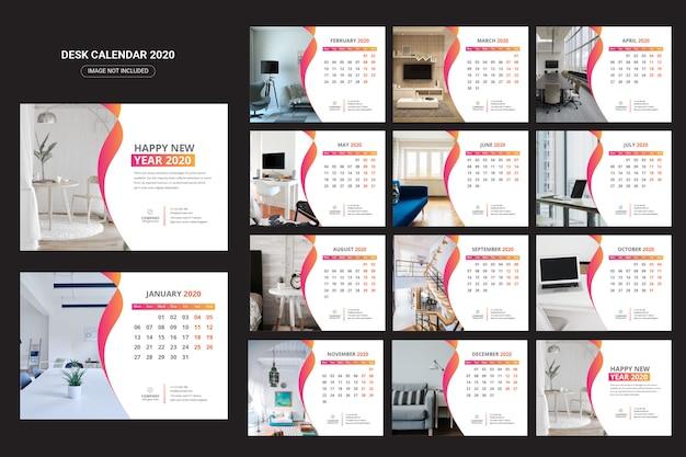 Kalendarz na biurko wewnętrzne 2020
